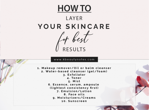 layer skincare products