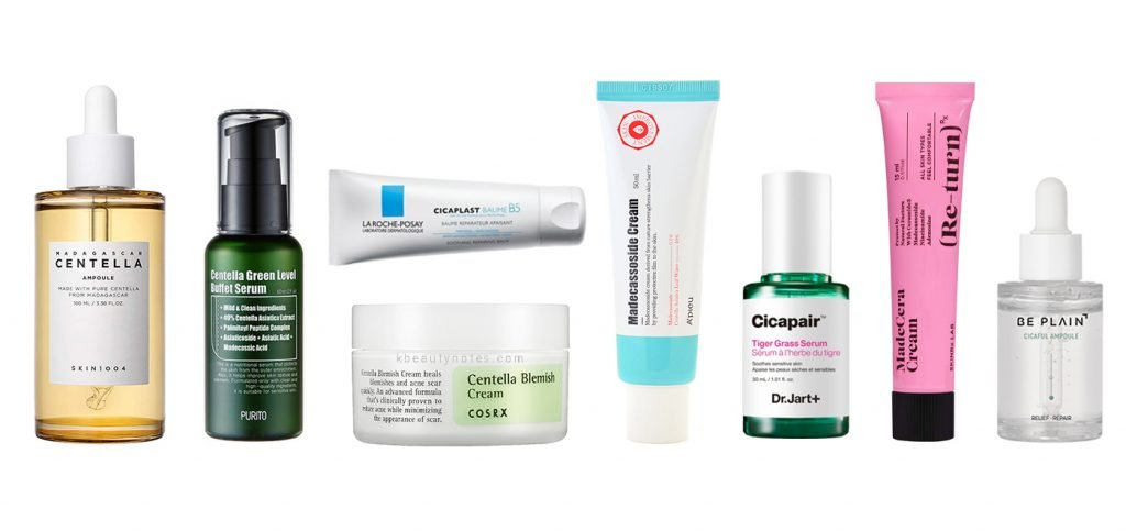 best korean skincare products with centella asiatica