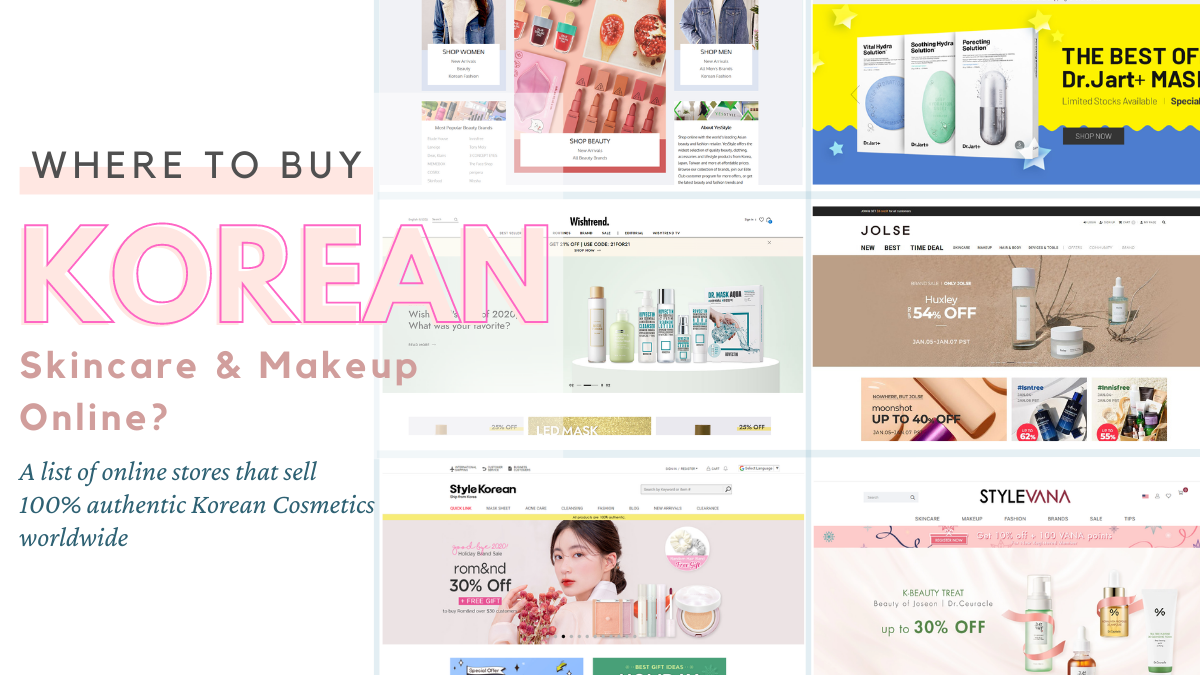 Where to buy Korean Skincare and K-Beauty Products Online?